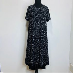 LULAROE HIG-LONG FLORAL DRESS